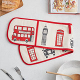 London Skyline Double Oven Glove from Victoria Eggs.
