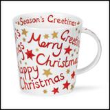 Bone China Dunoon Cairngorm Christmas Greetings mug