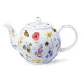 Fine bone china Dunoon Wayside large teapot.