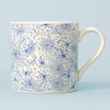 Ceramic Blue Burst mug. Made in England.