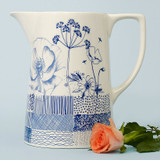 Ceramic large Wild Garden jug. Made in England.