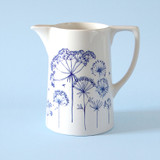 Ceramic medium Seedhead jug. Made in England.