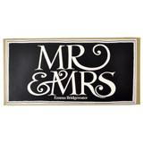 Black Toast Mr & Mrs set of 2 half pint mugs from Emma Bridgewater.