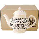 Emma Bridgewater Black Toast 4 Mug teapot boxed.