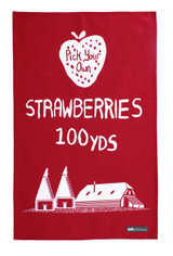 Mini Moderns strawberries cotton tea towel from Ulster Weavers.