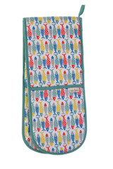 Seasalt of Cornwall 100% cotton Schooling Fish double oven glove from Ulster Weavers.