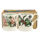 Winter Flowers Set of 2 Half Pint Mugs from Emma Bridgewater.