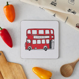 Melamine London Bus Pot Stand from Victoria Eggs.