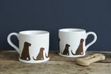 Pottery Chocolate Labrador mug from Sweet William Designs.