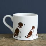 Pottery Springer Spaniel (Liver & White) mug from Sweet William Designs.