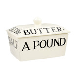 Emma Bridgewater handmade pottery Black Toast small butter dish.