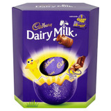 Large Cadbury Dairy Milk Easter Egg with two sharing bars of Dairy Milk.