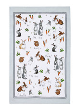 Hippity Hoppity Bunnies 100% Linen Tea towel from Ulster Weavers.