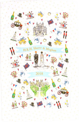 100% Cotton Royal Wedding tea towel from Milly Green.
