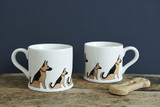 Pottery German Shepherd mug from Sweet William Designs.