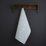 Organic cotton tea towel covered in West Highland Terriers from Sweet William Designs.