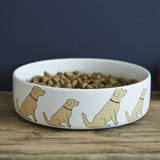Pottery Golden Retriever Dog Bowl from Sweet William Designs.