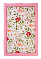 RHS Traditional Rose 100% Linen tea towel from Ulster Weavers.