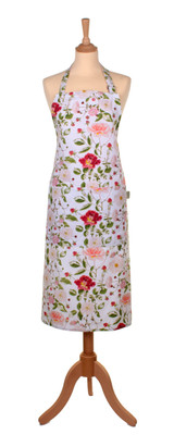 Royal Horticultural Society Traditional Rose 100% cotton apron from Ulster Weavers.