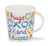Dunoon Lomond Hugs & Kisses bone china mug.
