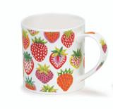 Dunoon Orkney Strawberry Sunrise bone china mug.