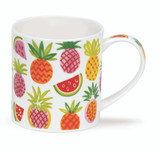 Dunoon Orkney Tropical Treats bone china mug.