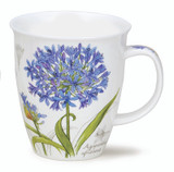 Dunoon Botanical Sketch Agapanthus mug in Nevis shape.