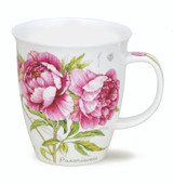 Dunoon Botanical Sketch Peony mug in Nevis shape.