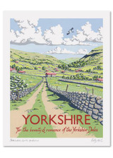 Kelly Hall Yorkshire Print. Printed in England.