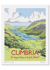 Kelly Hall Cumbria Print. Printed in England.