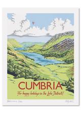 Kelly Hall Cumbria Print. Printed in England.