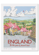 Kelly Hall England Print. Printed in England.