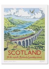 Kelly Hall Sccotland Print. Printed in England.