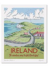 Kelly Hall Ireland Print. Printed in England.
