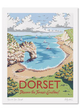 Kelly Hall Dorset Print. Printed in England.
