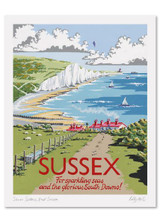 Kelly Hall Sussex Print. Printed in England.