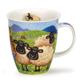 Dunoon Nevis Sheepies Farmer bone china mug.