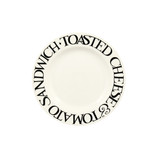 Black Toast Crumbs 6 1/2 inch plate from Emma Bridgewater. Handmade in England.