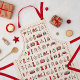 London Christmas Apron by Victoria Eggs.