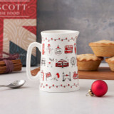 Bone china London Christmas half pint jug from Victoria Eggs.