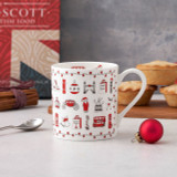 Bone china London Christmas mug from Victoria Eggs.