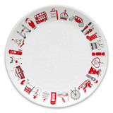 Bone china London Christmas 8 inch plate from Victoria Eggs.