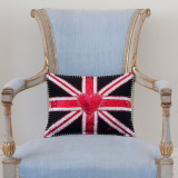 Glam Rock Union Jack Small Cushion from Jan Constantine