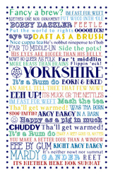 Yorkshire Born & Bred Ulster Weavers 100% cotton Tea towel.