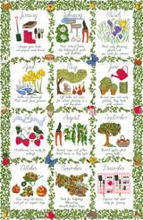 Gardeners Calendar Ulster Weavers 100% cotton Tea towel.