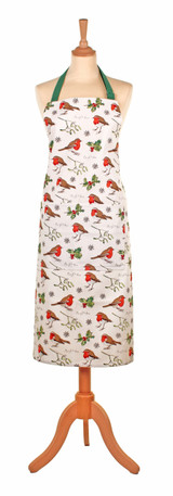 Robins and Holly cotton apron from Ulster Weavers.