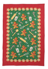 Gingerbread Men 100% cotton tea towel from Ulster Weavers.