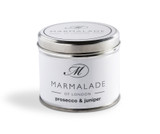 Prosecco & Juniper medium tin candle from Marmalade of London.