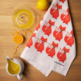 Foxy Tea Towel from Lucky Lobster art