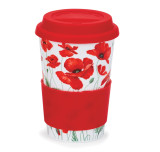 Bone china travel mug from Dunoon - Poppies.